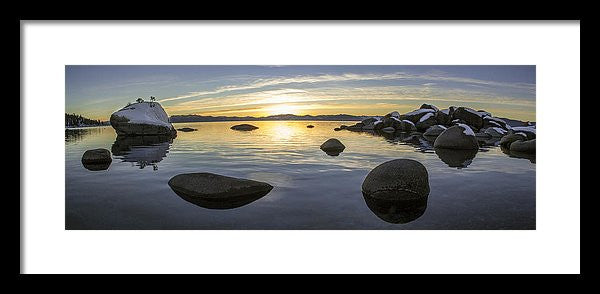 Bonsai Rock Sunset - Framed Print