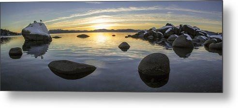 Bonsai Rock Sunset - Metal Print