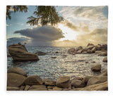 Bonsai Rock Through The Trees By Brad Scott - Blanket