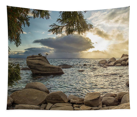 Bonsai Rock Through The Trees By Brad Scott - Tapestry