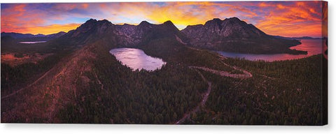 Cascade Ablaze By Brad Scott - Canvas Print