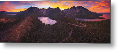 Cascade Ablaze By Brad Scott - Metal Print