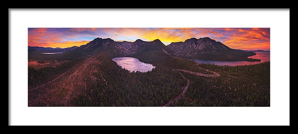 Cascade Ablaze By Brad Scott - Framed Print