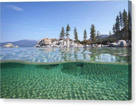 Classic Split By Dylan Silver - Canvas Print-Lake Tahoe Prints