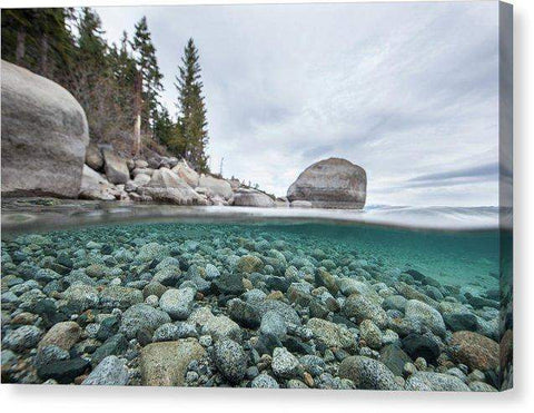 Clean Granite By Dylan Silver - Canvas Print-Lake Tahoe Prints