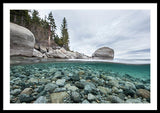 Clean Granite By Dylan Silver - Framed Print