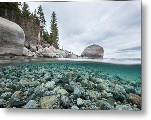 Clean Granite By Dylan Silver - Metal Print
