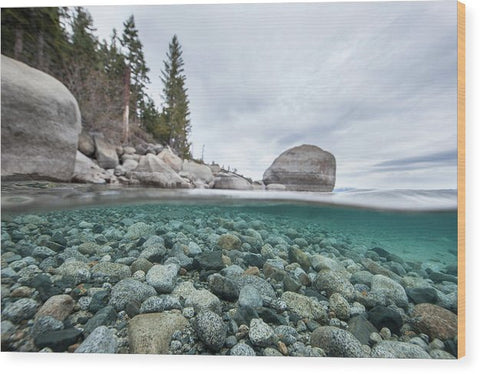 Clean Granite By Dylan Silver - Wood Print