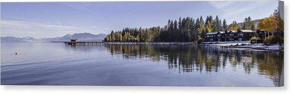 "Commons Beach Lake Tahoe - Canvas Print-24.000"" x 6.375""-Lake Tahoe Prints"