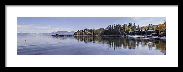 Commons Beach Lake Tahoe - Framed Print