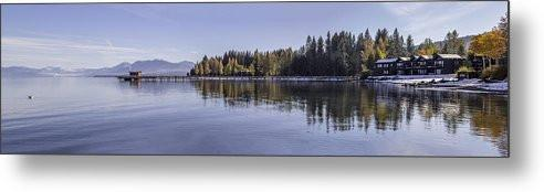 Commons Beach Lake Tahoe - Metal Print