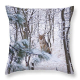 Coyote In The Aspens - Throw Pillow-Lake Tahoe Prints