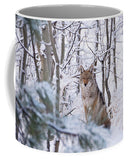 Coyote In The Aspens - Mug-Lake Tahoe Prints