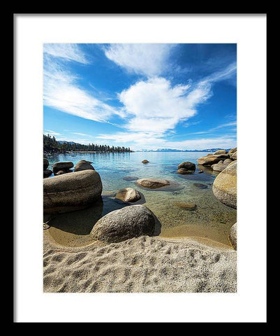 Crystal Waters - Sand Harbor Lake Tahoe - Framed Print