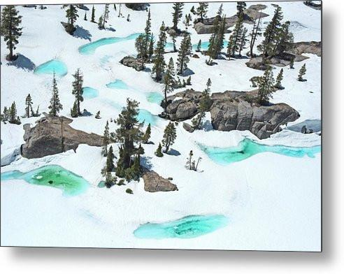 Desolation Blue Ice - Metal Print