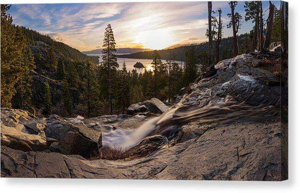 Eagle Falls Morning Glow By Brad Scott - Canvas Print-Lake Tahoe Prints