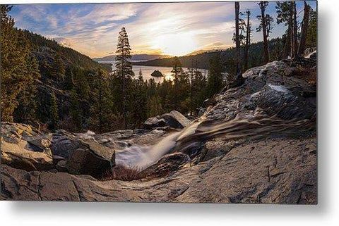Eagle Falls Morning Glow By Brad Scott - Metal Print