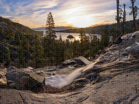 Eagle Falls Morning Glow by Brad Scott - Puzzle