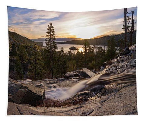 Eagle Falls Morning Glow By Brad Scott - Phone Case