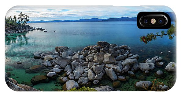 East Shore Aquas by Brad Scott - Phone Case-Phone Case-IPhone X Case-Lake Tahoe Prints