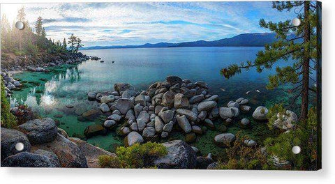 East Shore Aquas by Brad Scott - Acrylic Print
