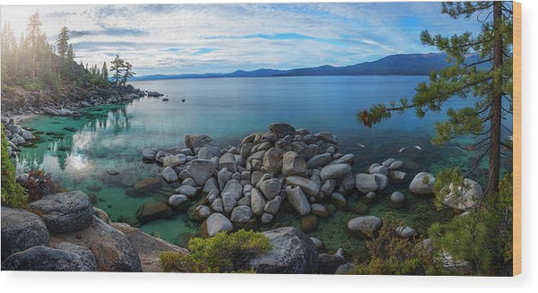 East Shore Aquas by Brad Scott - Wood Print