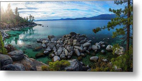 East Shore Aquas by Brad Scott - Metal Print-Lake Tahoe Prints
