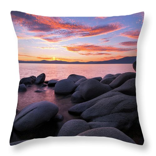 East Shore Bliss By Brad Scott - Throw Pillow-Lake Tahoe Prints