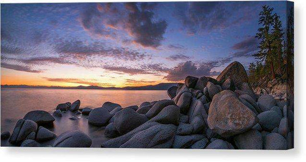 "East Shore Cove Panorama By Brad Scott - Canvas Print-14.000"" x 6.250""-Lake Tahoe Prints"