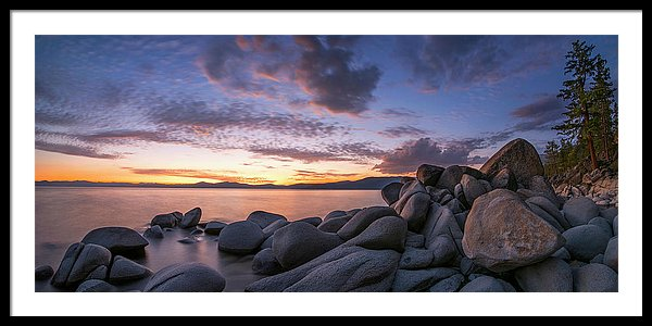 East Shore Cove Panorama By Brad Scott - Framed Print