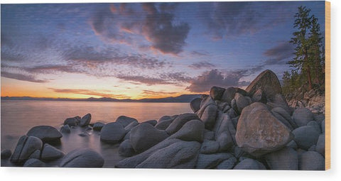 East Shore Cove Panorama By Brad Scott - Wood Print