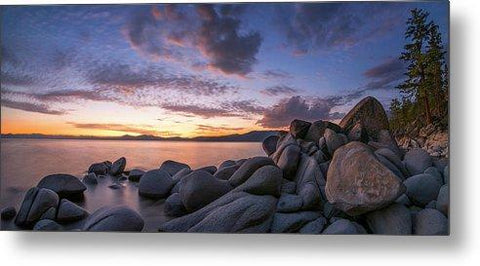 East Shore Cove Panorama By Brad Scott - Metal Print-Lake Tahoe Prints