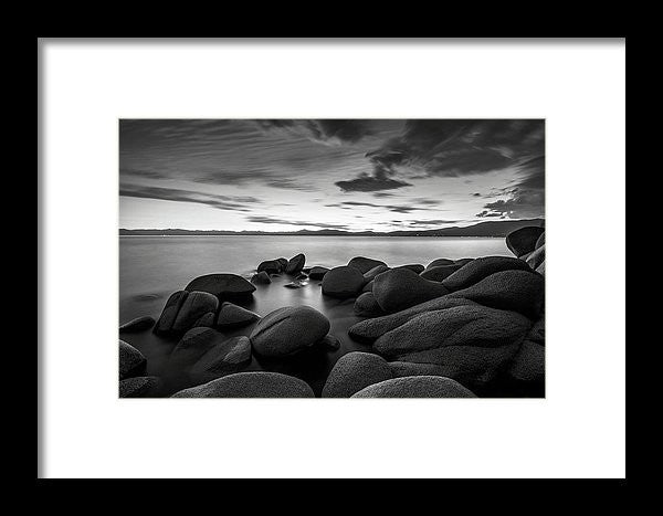 East Shore Serenity - Lake Tahoe - Framed Print