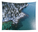East Shore Winter Aerial By Brad Scott - Tapestry