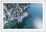 East Shore Winter Aerial By Brad Scott - Framed Print