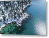 East Shore Winter Aerial By Brad Scott - Metal Print