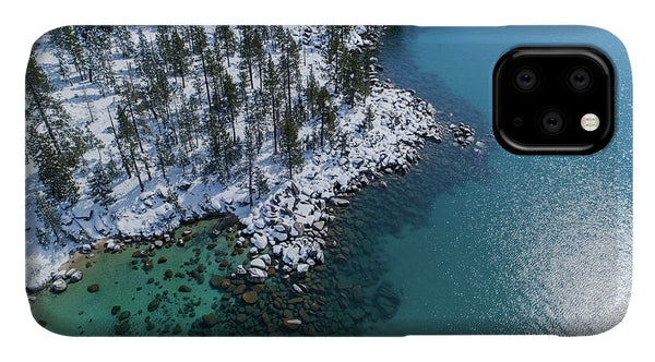 East Shore Winter Aerial By Brad Scott - Phone Case-Phone Case-IPhone X Case-Lake Tahoe Prints