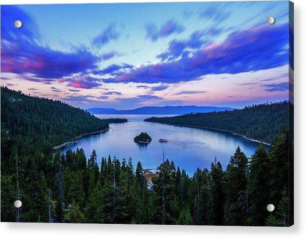Emerald Bay And Ms Dixie At Sunset By Brad Scott - Acrylic Print