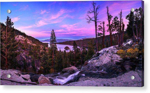 Emerald Bay Dreaming By Brad Scott - Acrylic Print