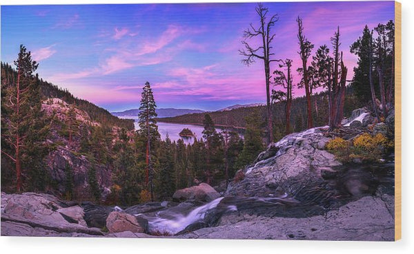 Emerald Bay Dreaming By Brad Scott - Wood Print
