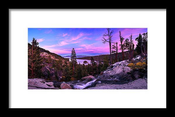 Emerald Bay Dreaming By Brad Scott - Framed Print