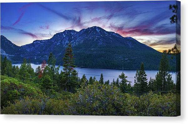 Emerald Bay Dusk By Brad Scott - Canvas Print