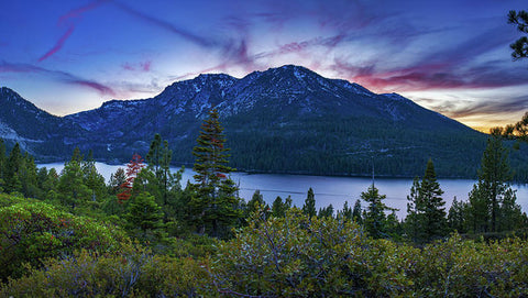 Emerald Bay Dusk By Brad Scott - Art Print