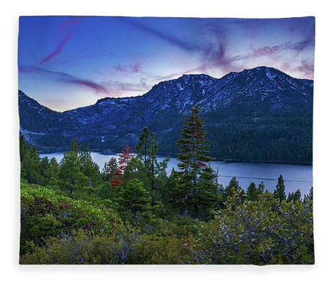 Emerald Bay Dusk By Brad Scott - Blanket