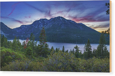 Emerald Bay Dusk By Brad Scott - Wood Print