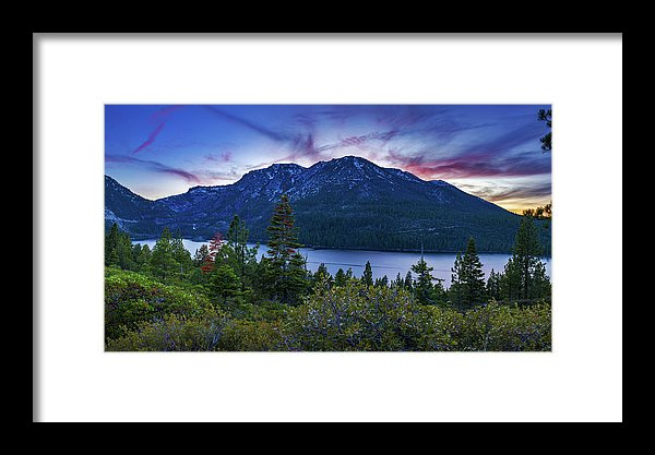 Emerald Bay Dusk By Brad Scott - Framed Print