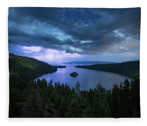 Emerald Bay Electric Skies By Brad Scott - Blanket
