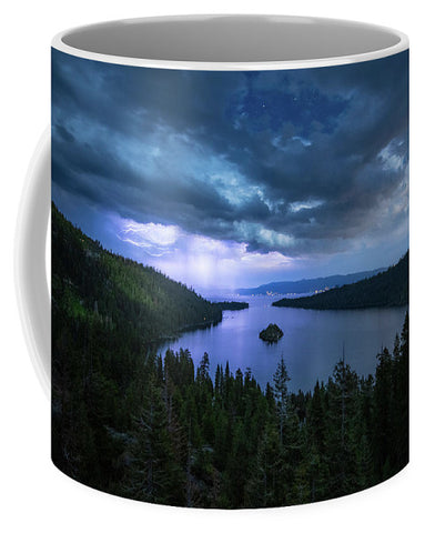 Emerald Bay Electric Skies By Brad Scott - Mug