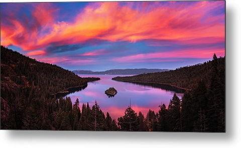Emerald Bay Explode  by Brad Scott - Metal Print