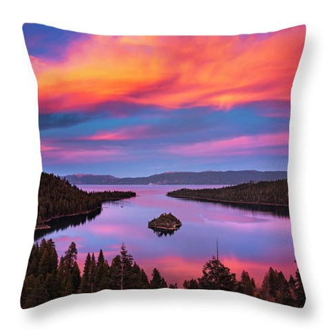 Emerald Bay Explode - Throw Pillow